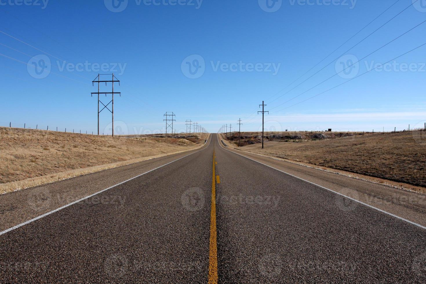 autostrada del paese di Panhandle foto