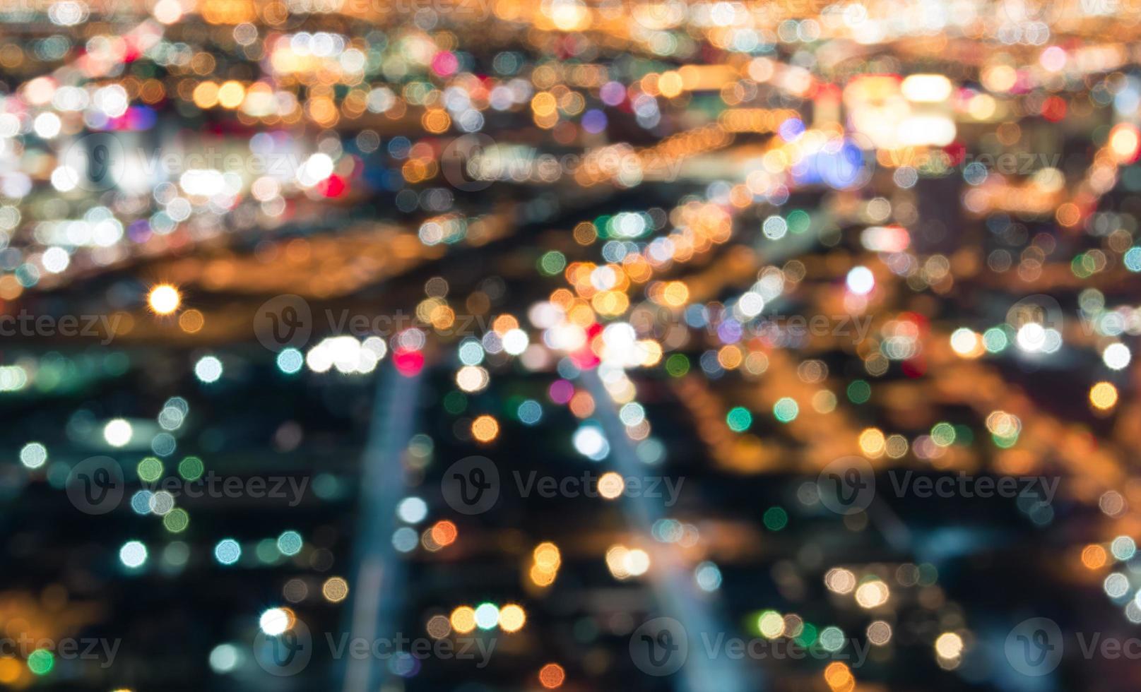 centro di las vegas - bokeh sfocato delle luci foto