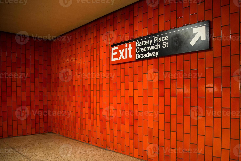 metropolitana di New York foto