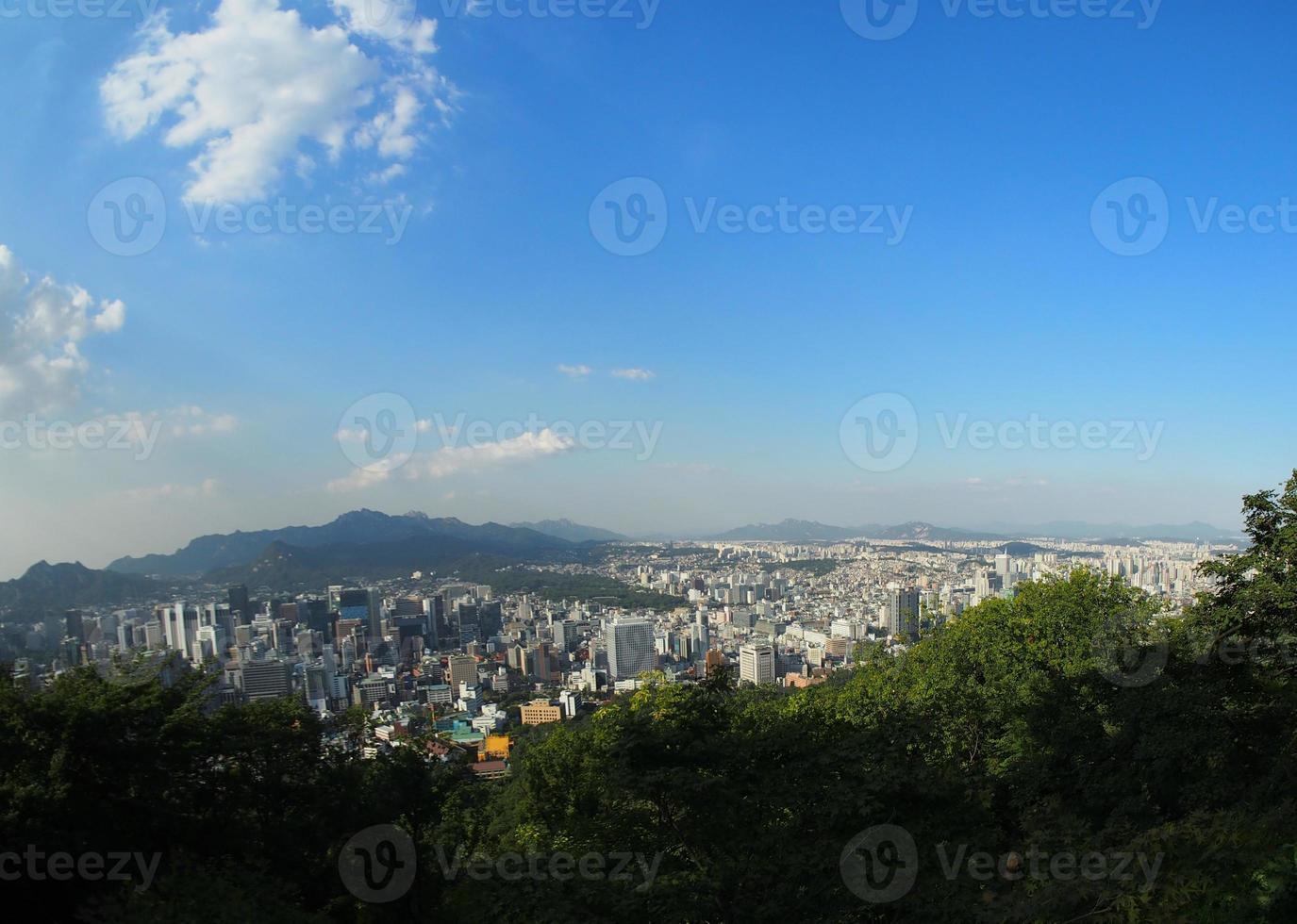 paesaggio urbano di Seoul foto