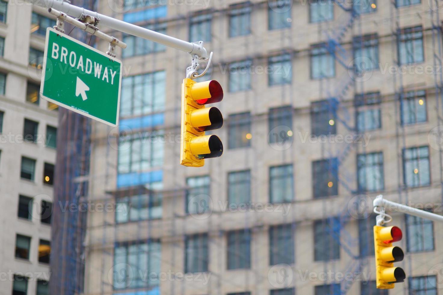 semafori di New York City foto