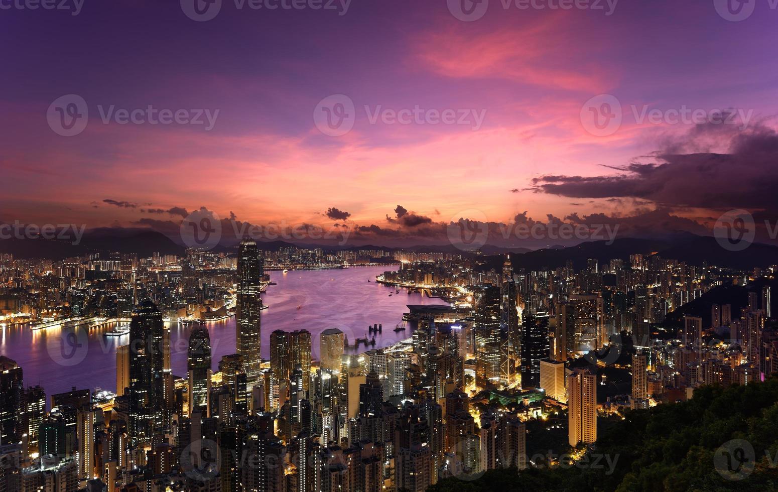 Victoria Harbor, Hong Kong, 2014 foto