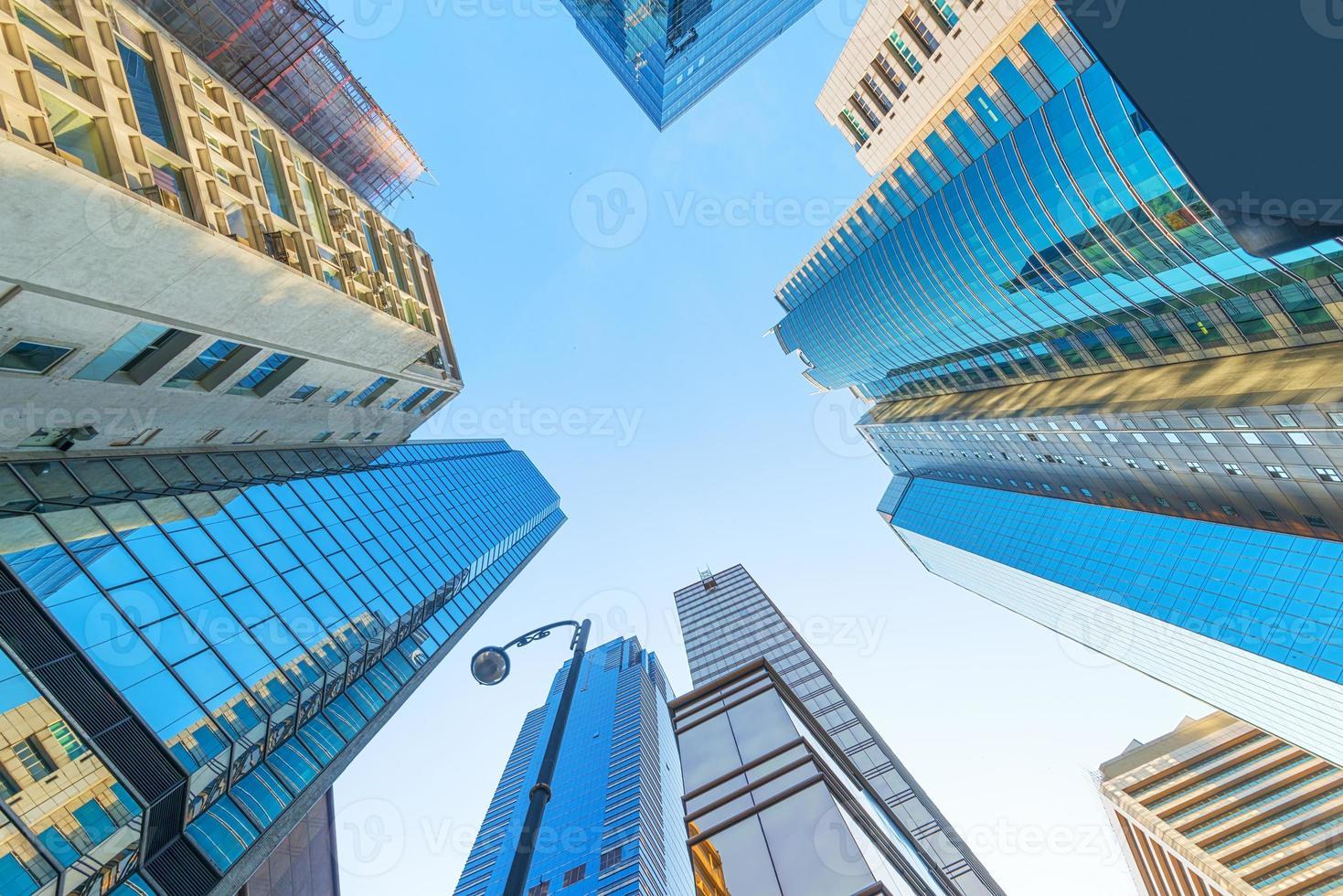 moderno centro business a Hong Kong foto