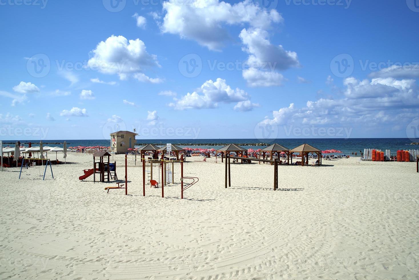 spiaggia di Tel Aviv foto