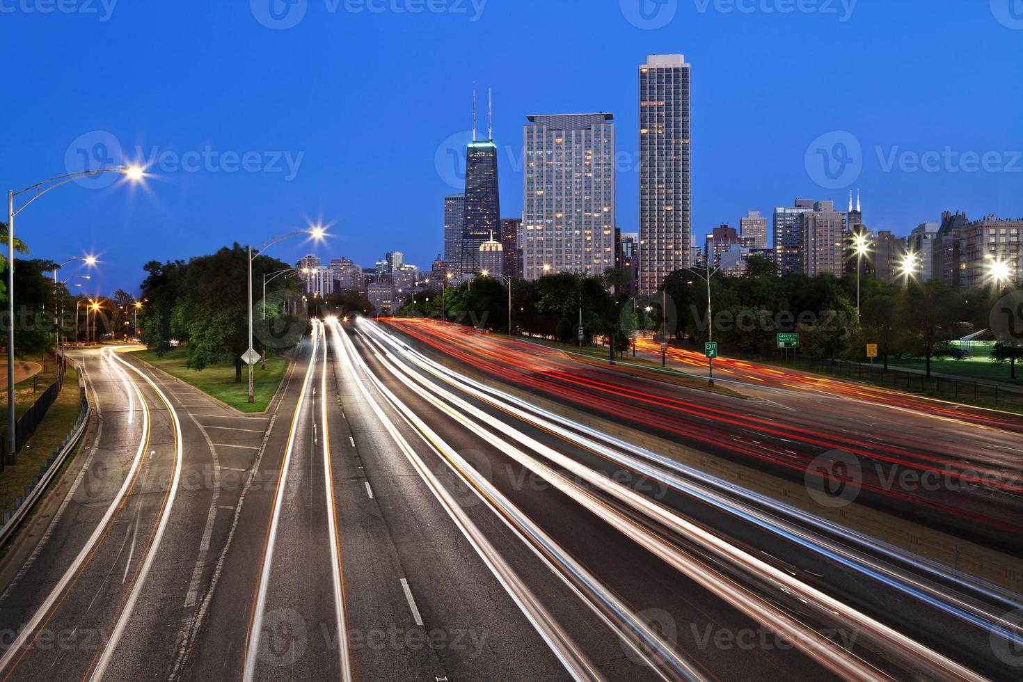 Chicago Lake Drive Drive. foto