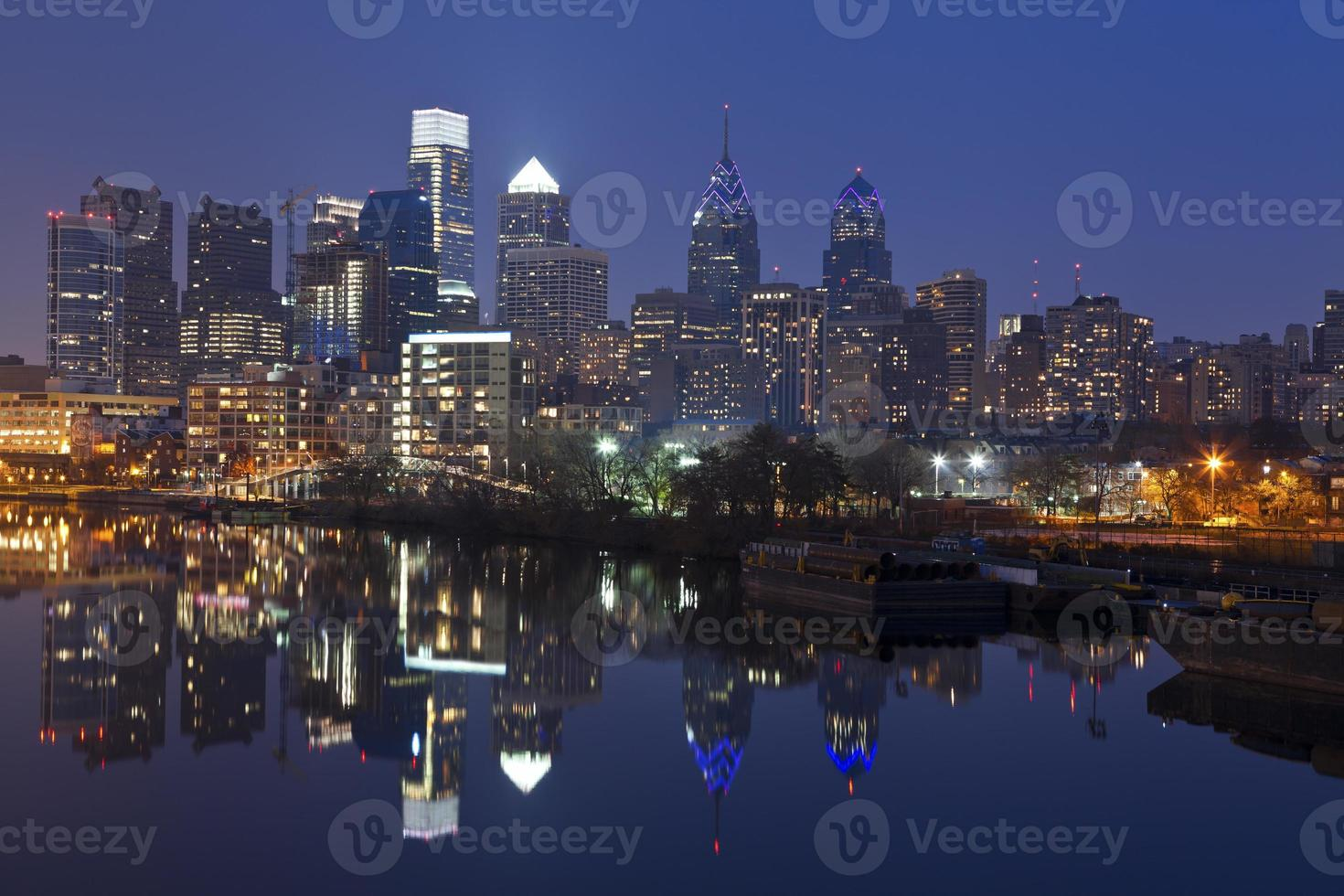 Skyline di Philadelphia. foto