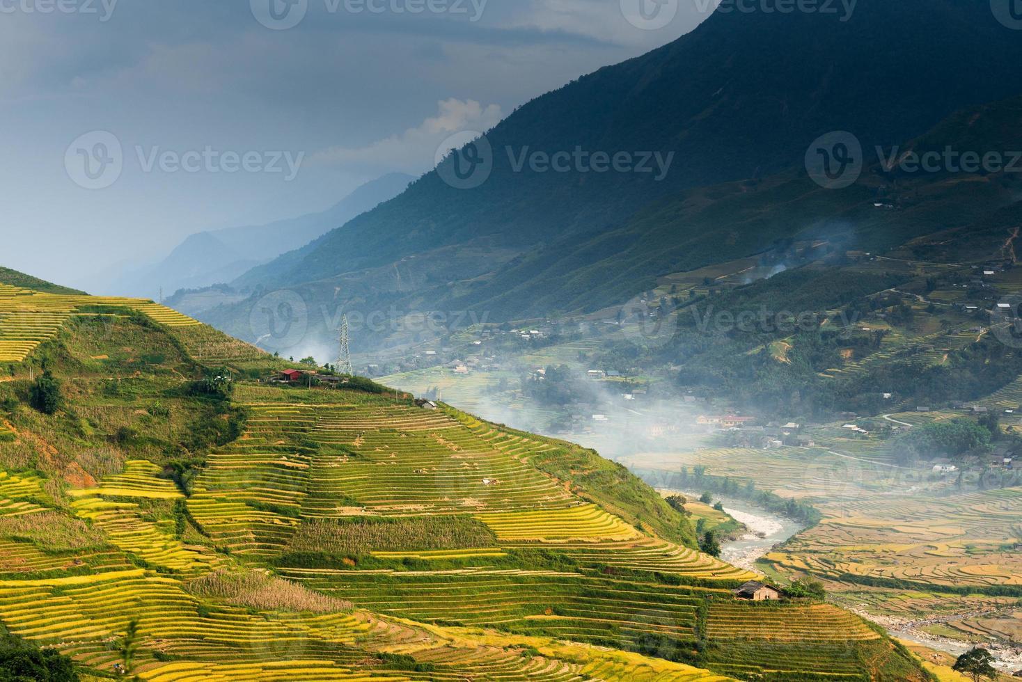 bella terrazza di riso a sapa, vietnam foto