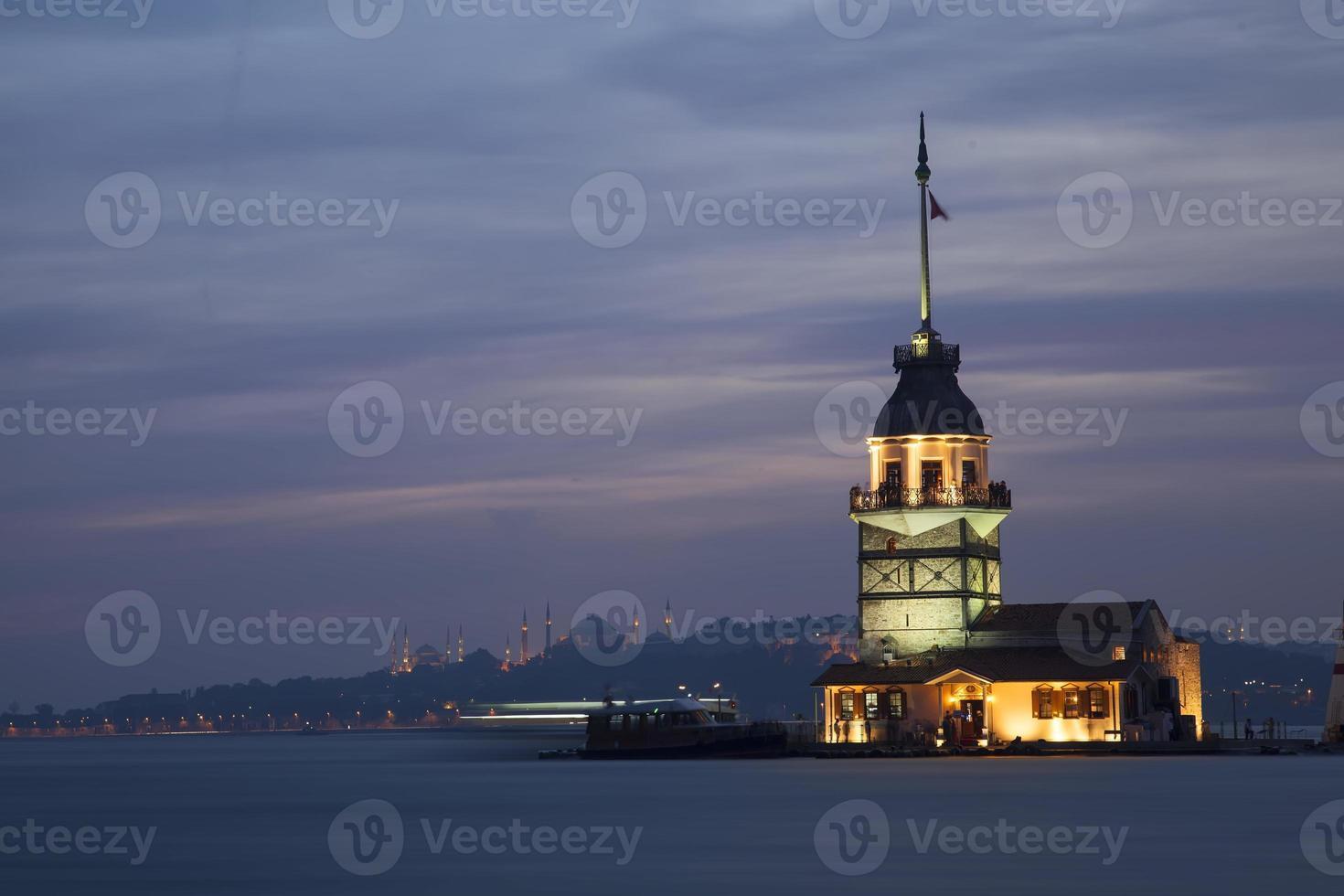 La Torre di Maiden. Istanbul. tacchino foto