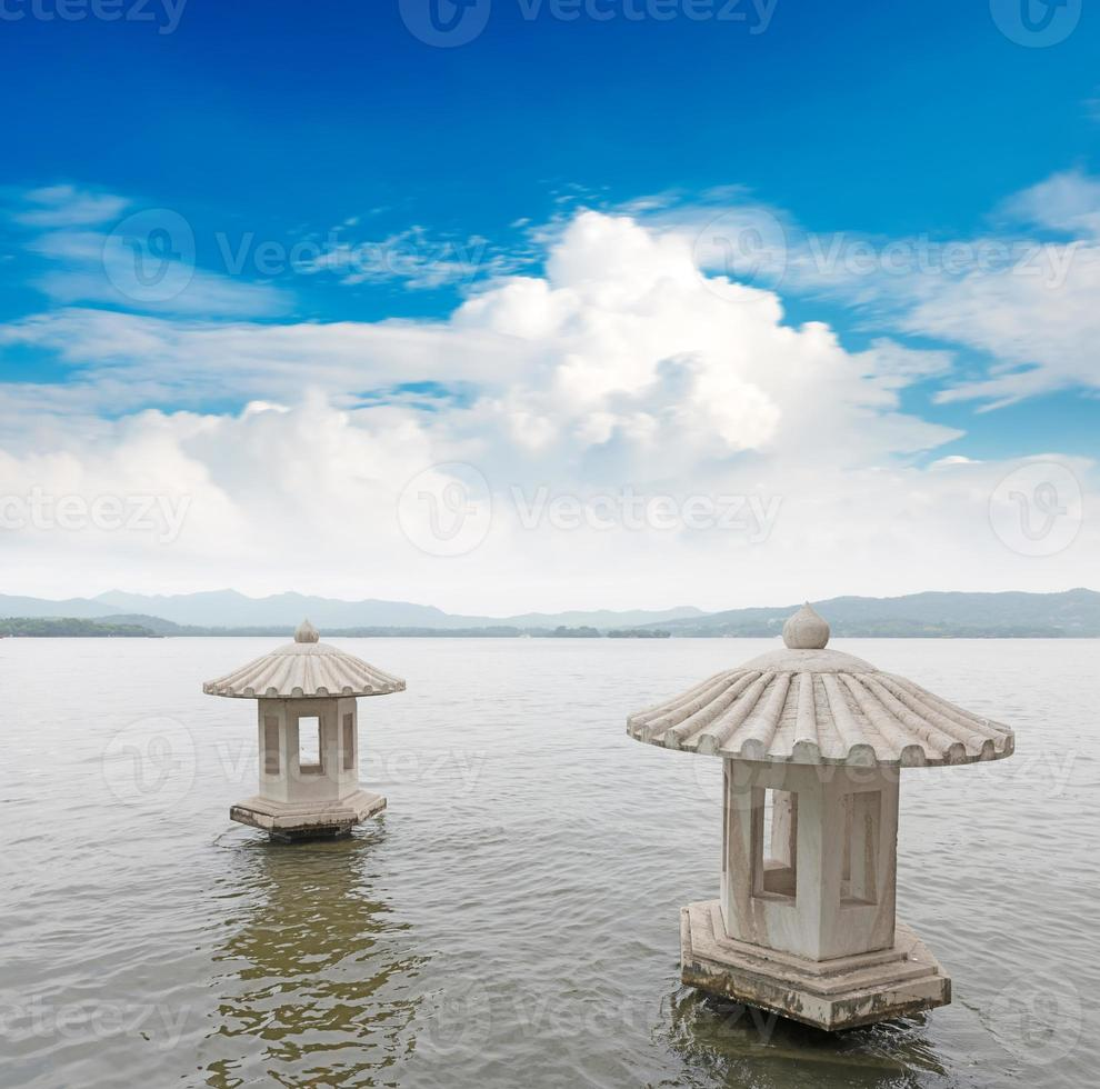 bellissimo lo scenario del lago ad ovest a Hangzhou, Cina foto