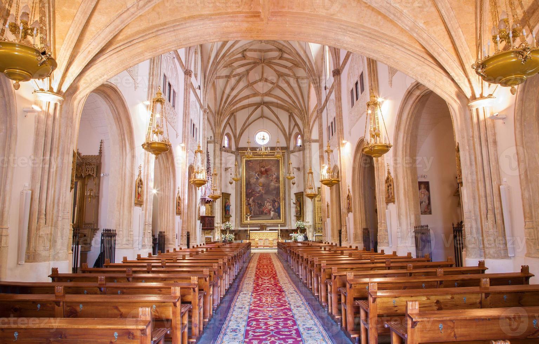 madrid - navata della chiesa di san jeronimo el real foto