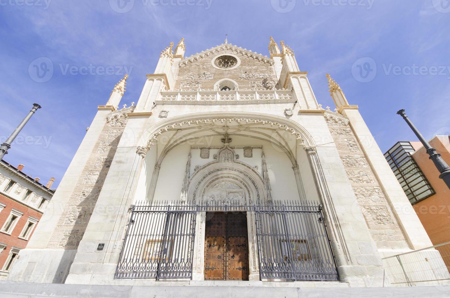 chiesa di san jeronimo, madrid. famoso punto di riferimento in Spagna. foto