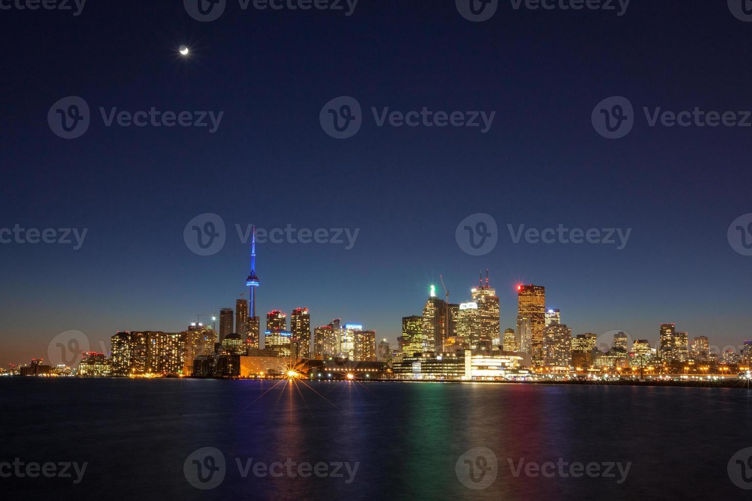 sera toronto skyline della città foto