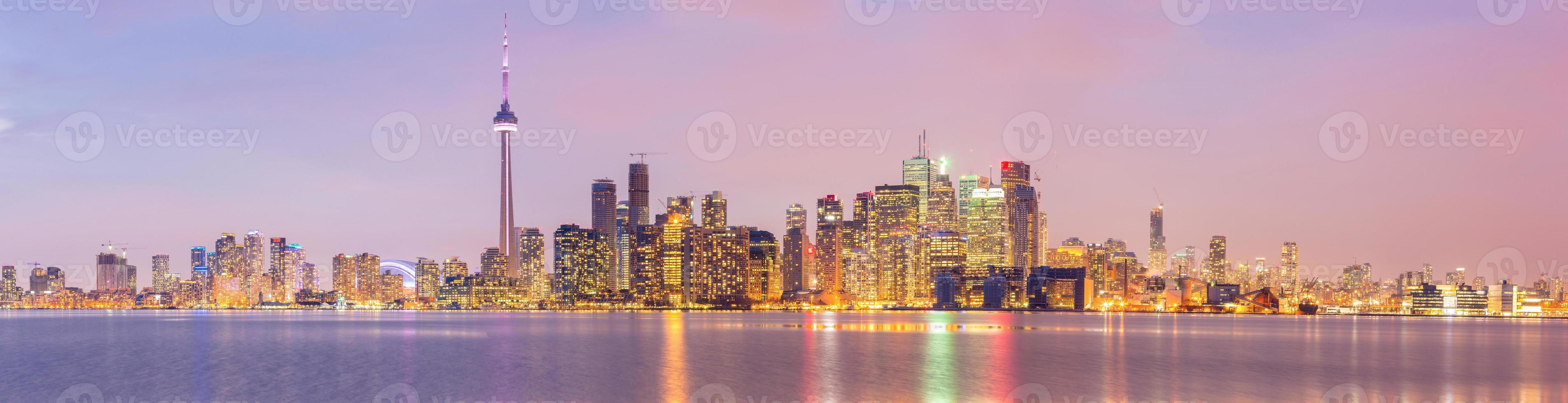 panorama sullo skyline di toronto foto