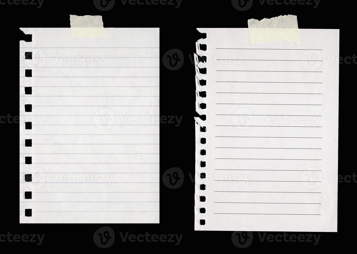 carta a righe con nastro adesivo foto