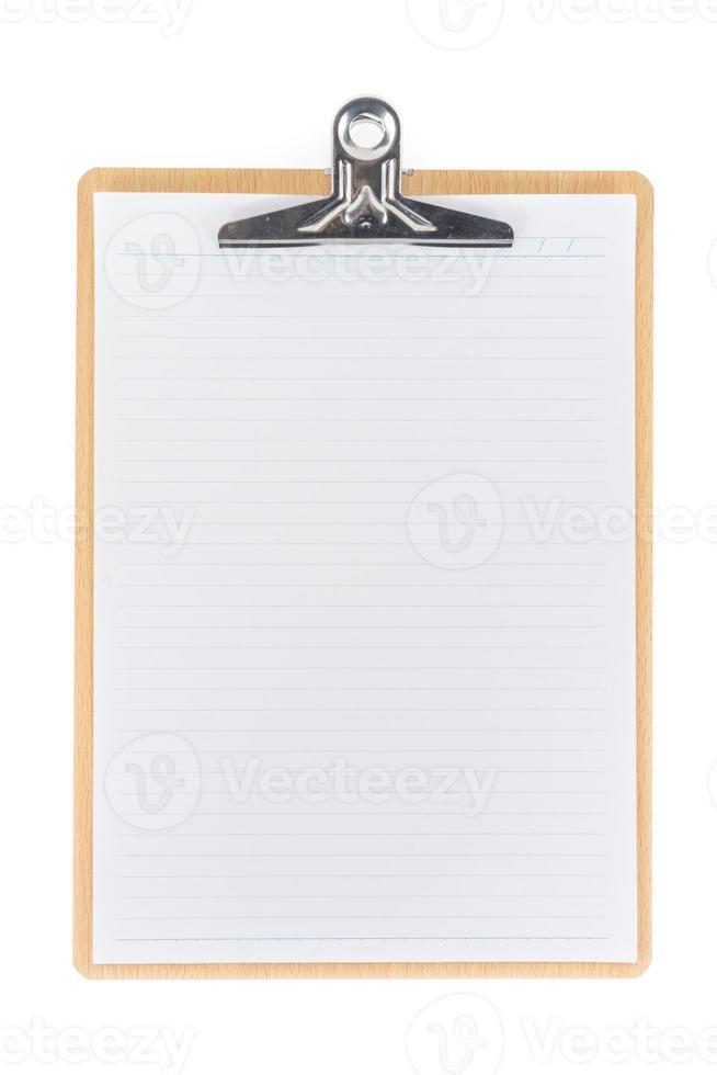 Appunti di legno usando per allegare la carta di pianificazione foto