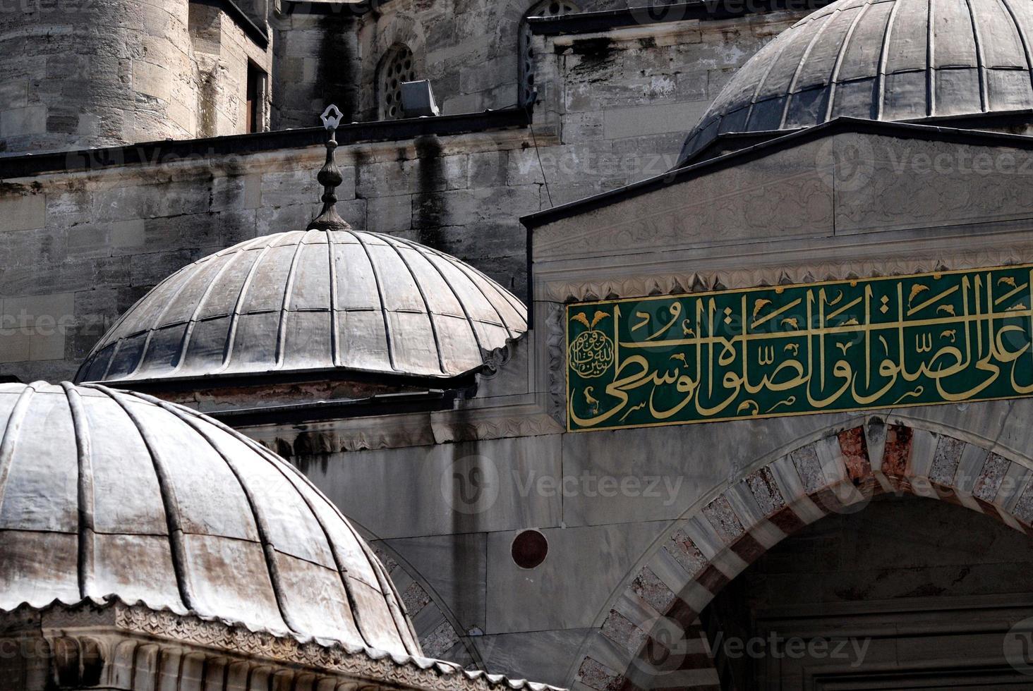 la moschea blu di istanbul, turchia foto