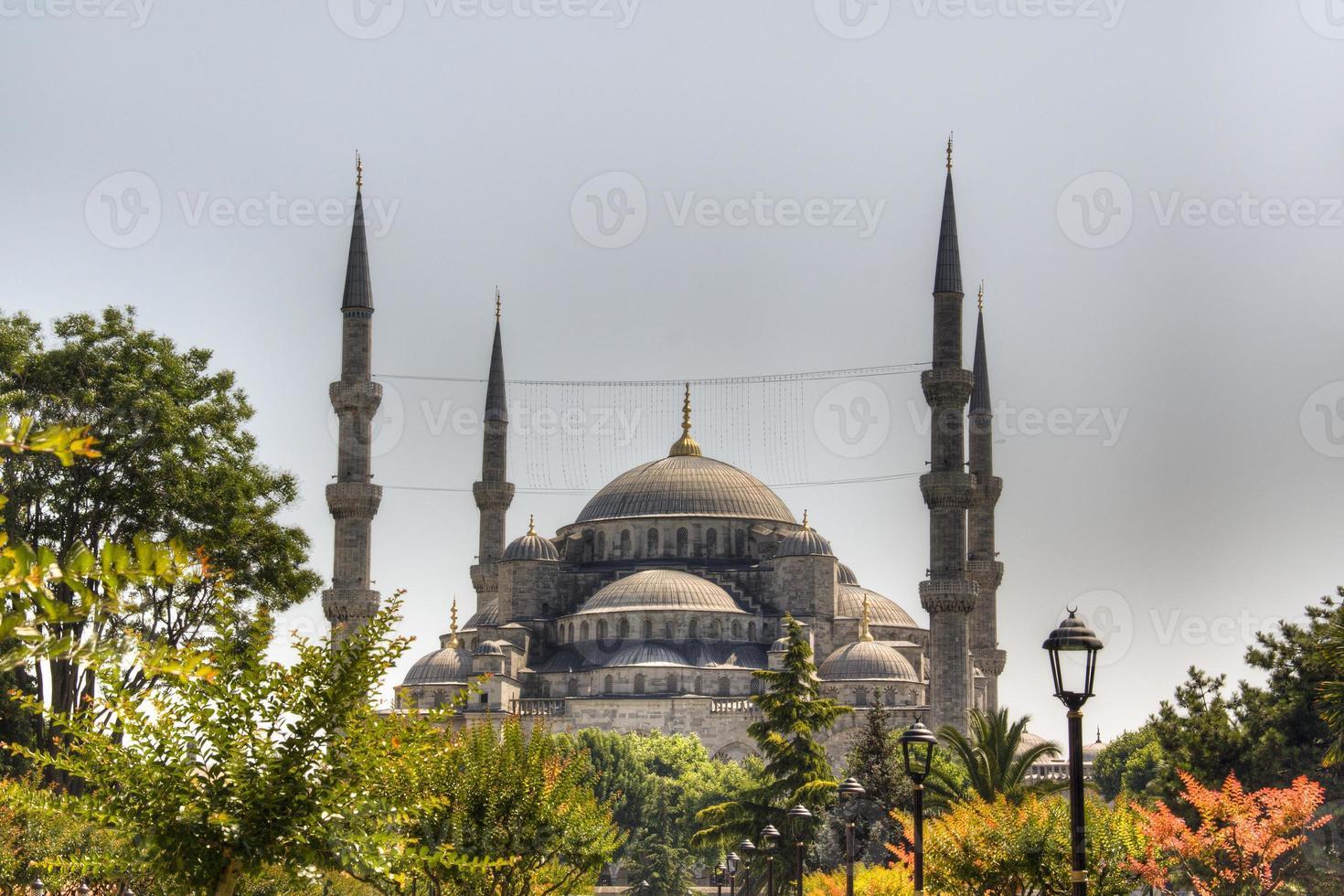 vista sopra la moschea blu foto