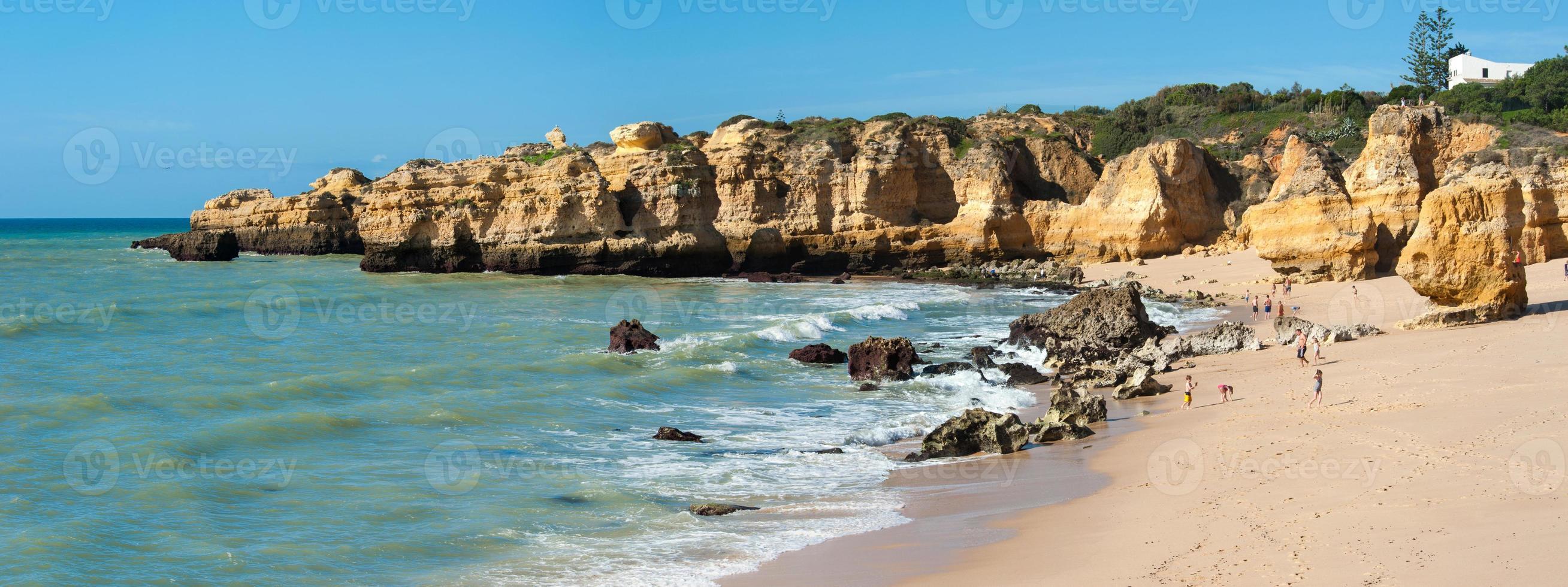 praia de sao rafael, algarve, portogallo foto