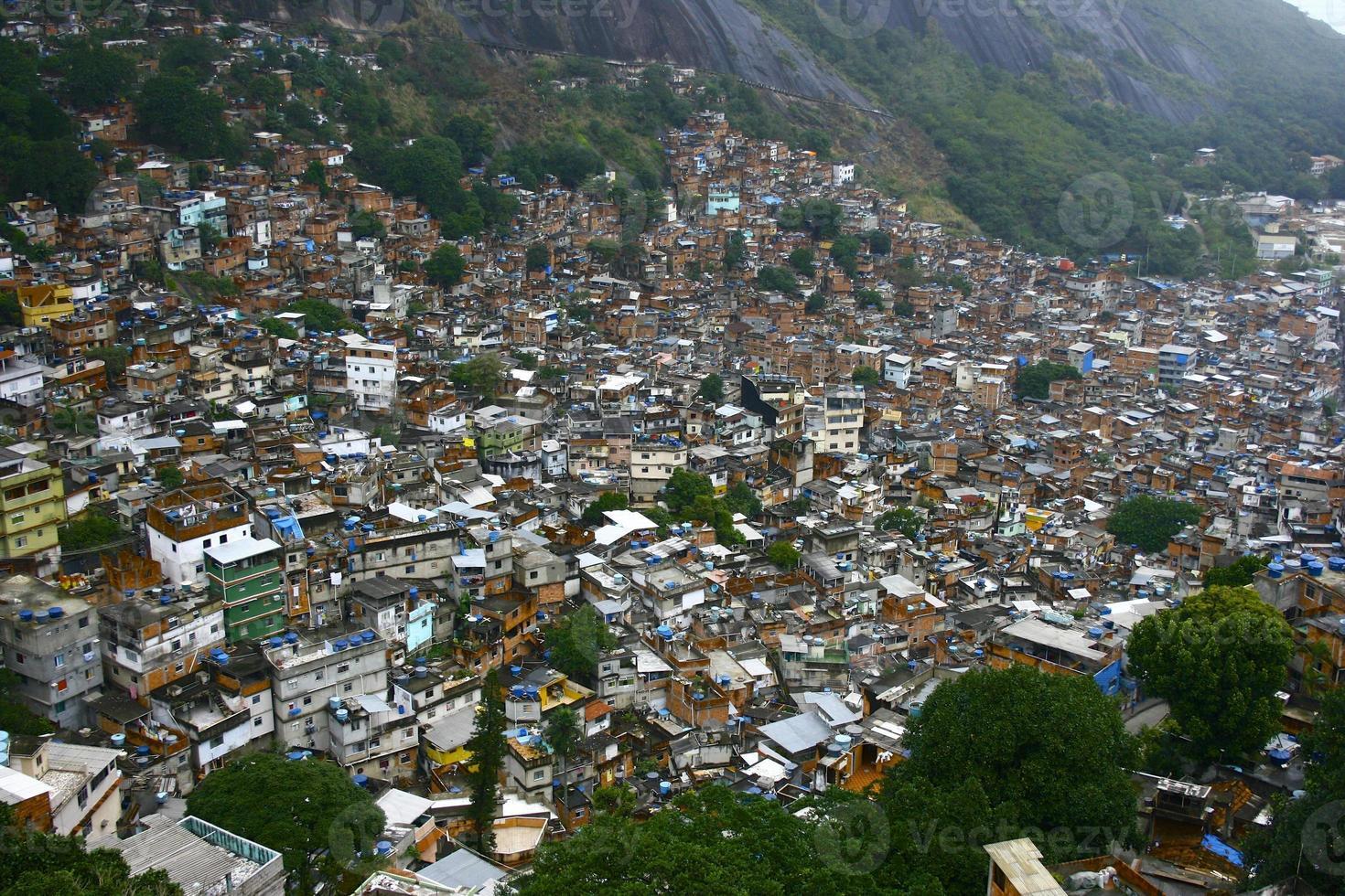 Favela in collina foto