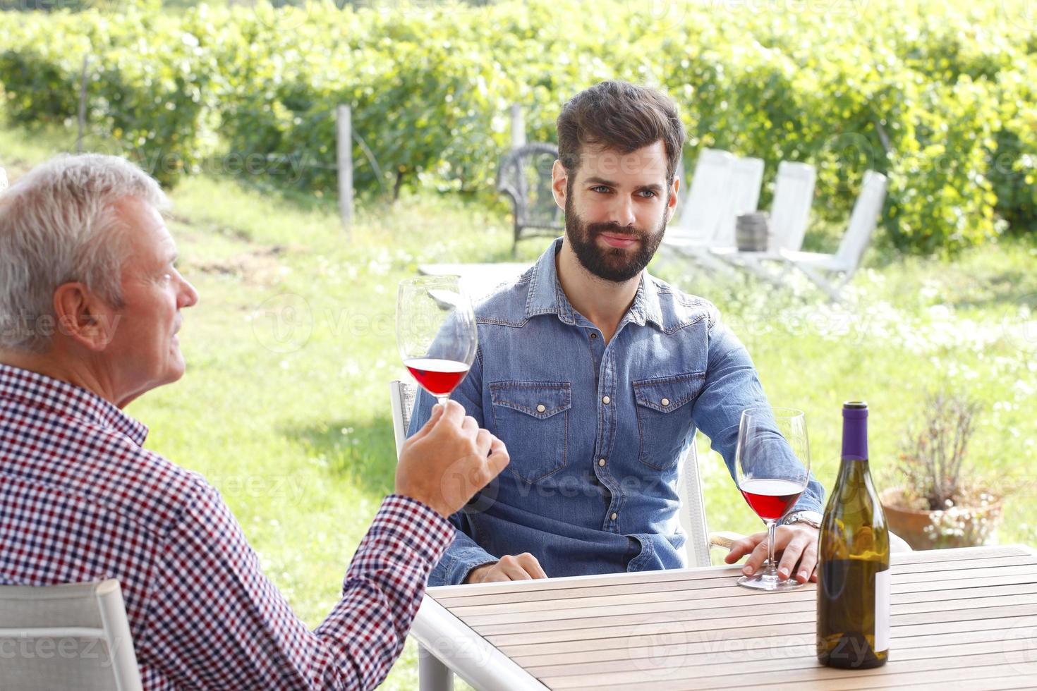 famiglia di viticoltori foto
