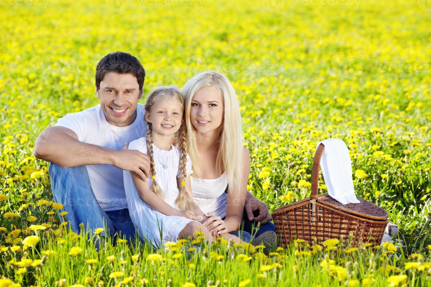 picnic in famiglia foto