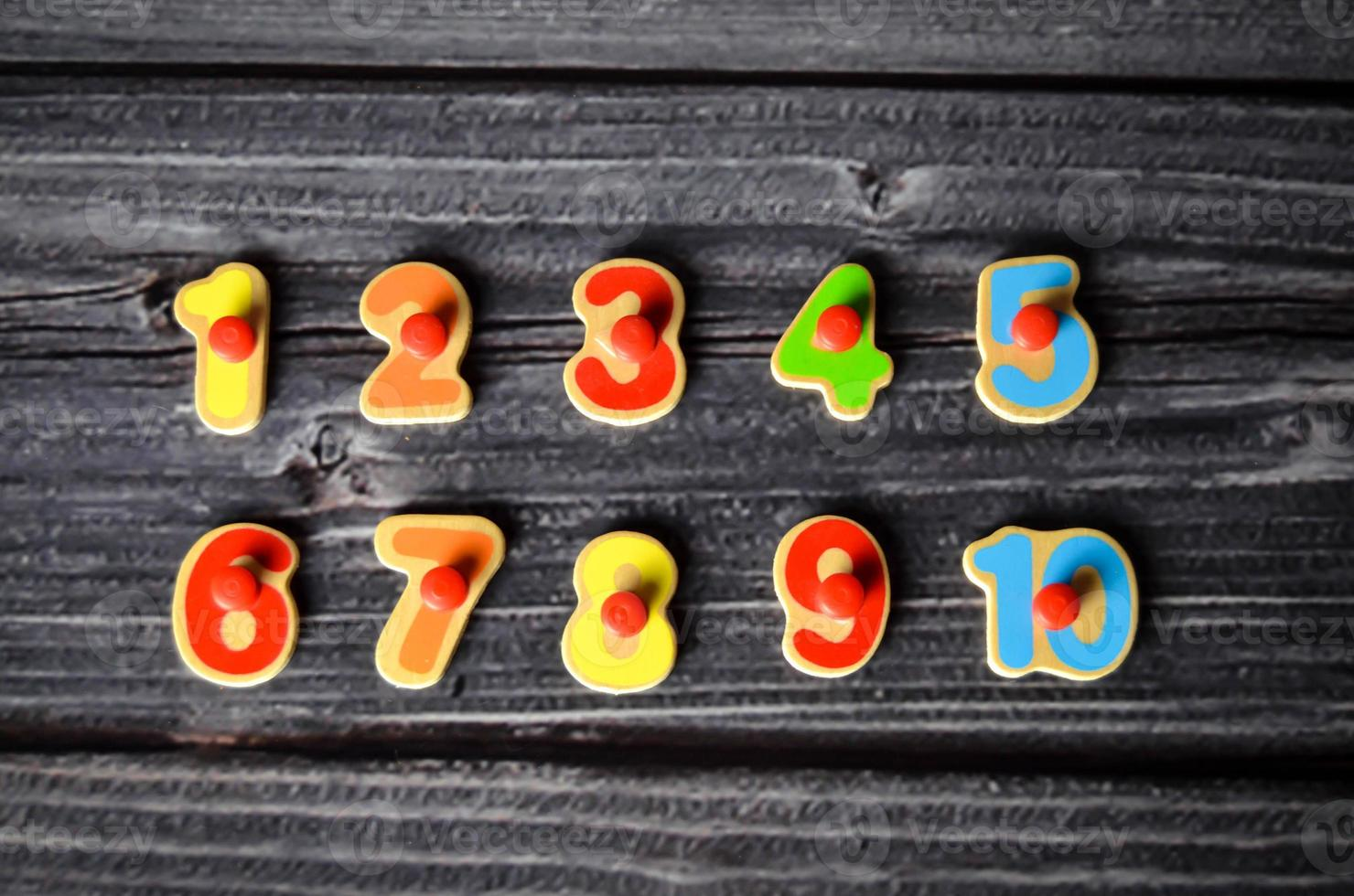numeri contando il bambino in età prescolare foto