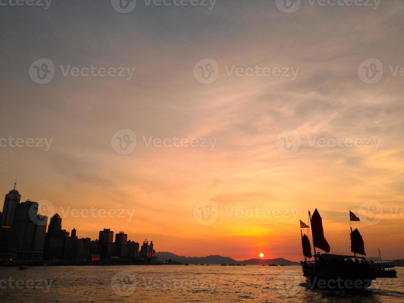 tramonto, porto foto