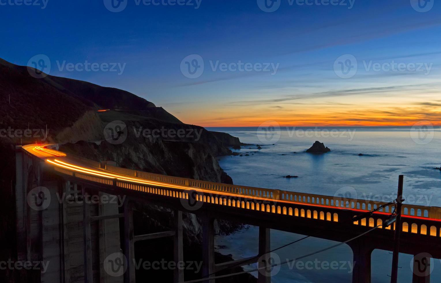 tramonto del ponte di Bixby foto