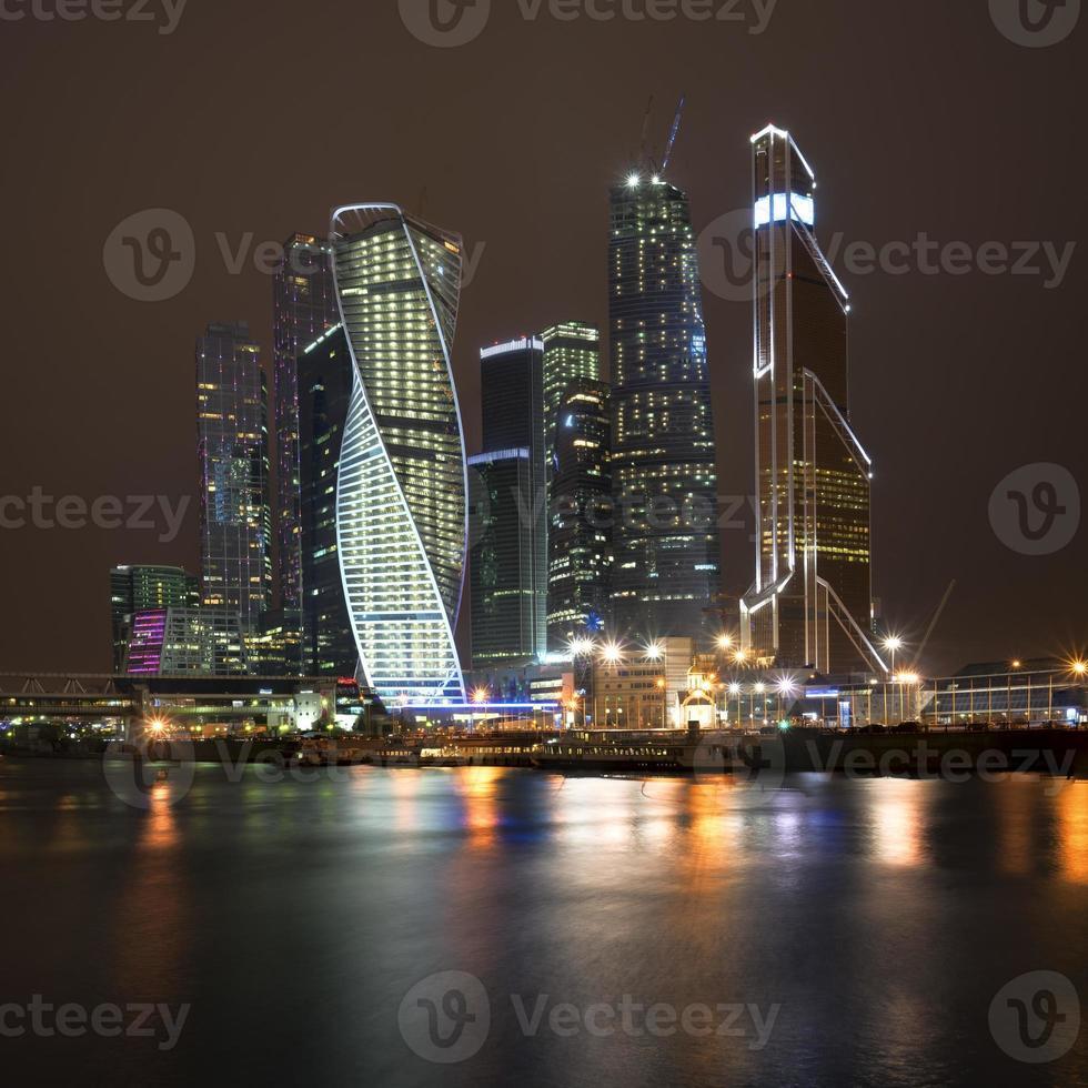 mosca città di notte foto