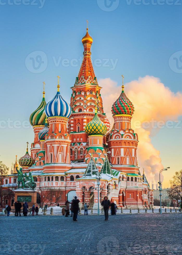 st. Cattedrale di Basilio a Mosca foto