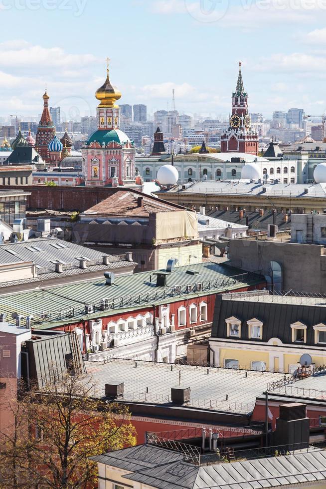 paesaggio della città di Mosca con il Cremlino foto