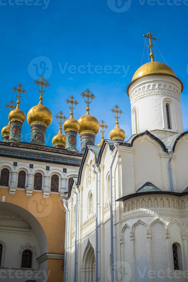 chiesa della deposizione della veste, Cremlino di Mosca, russia foto