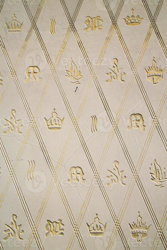 parete milano in italia corona antica sfondo astratto mosaico s foto