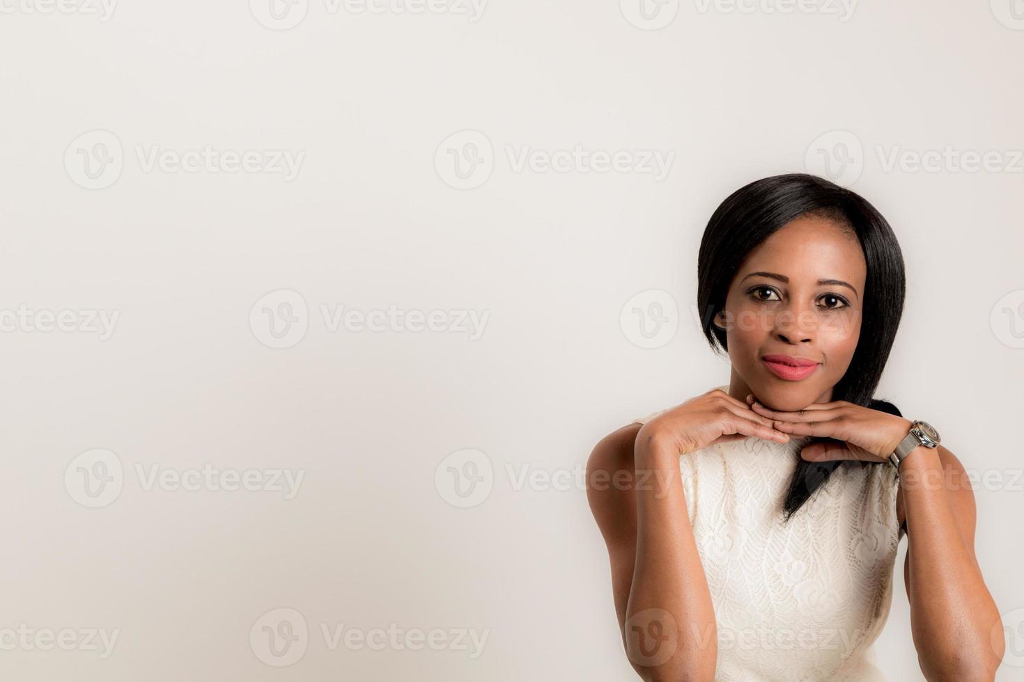 femmina africana in studio foto