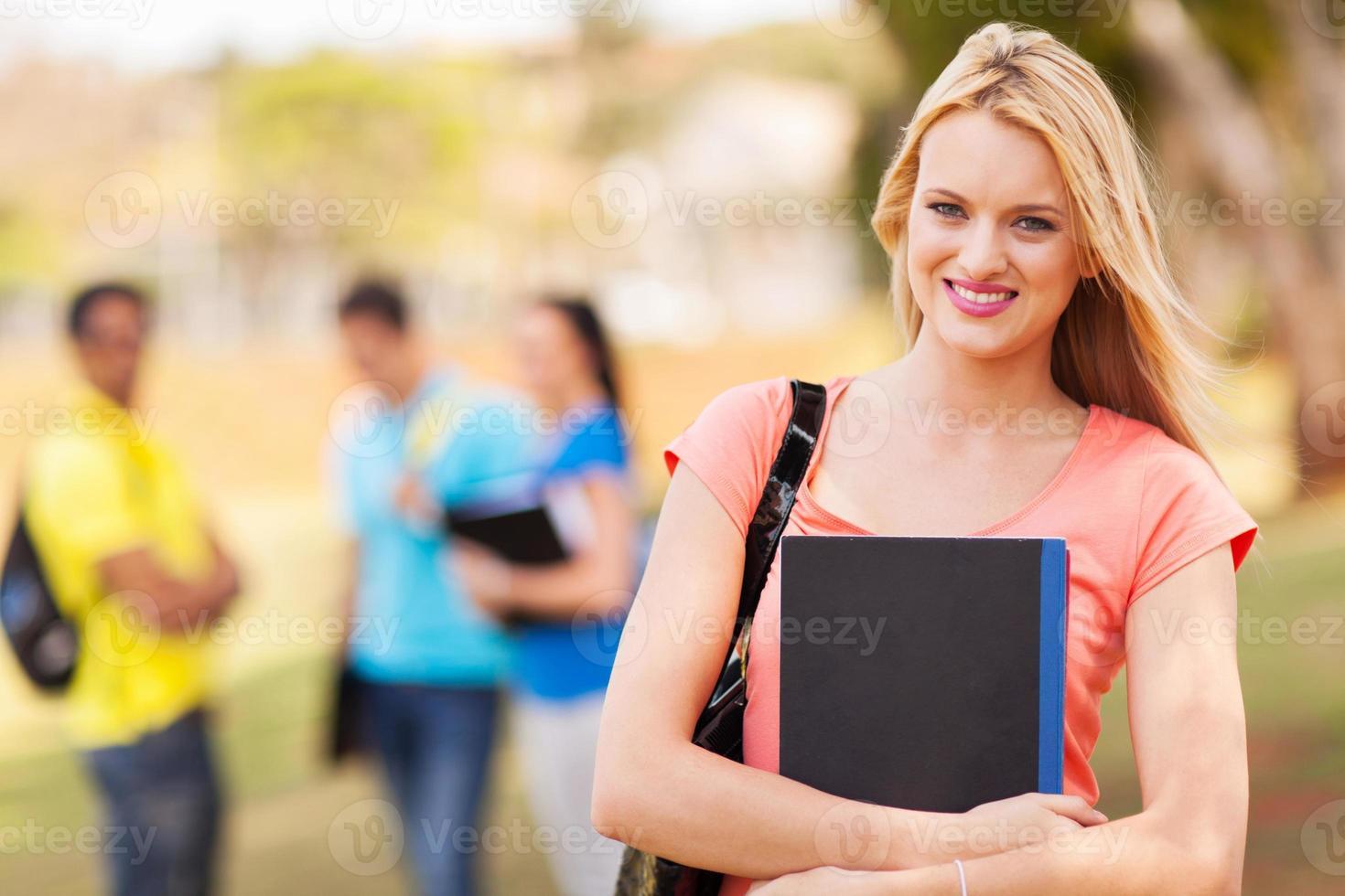 bella studentessa universitaria foto