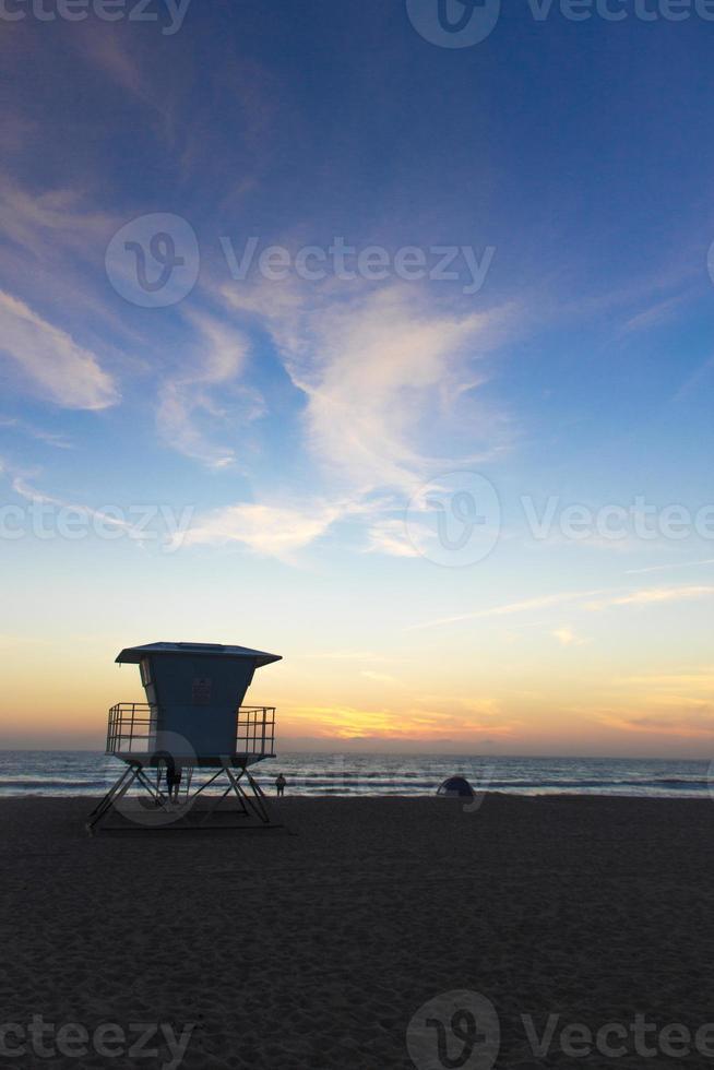 tramonto in california foto