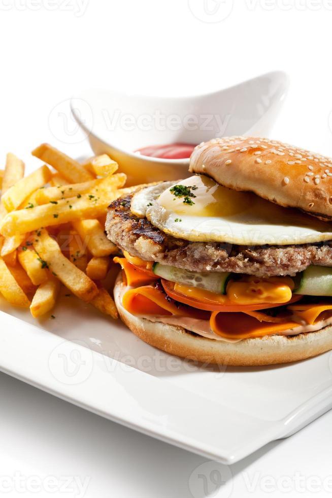 hamburger di manzo foto