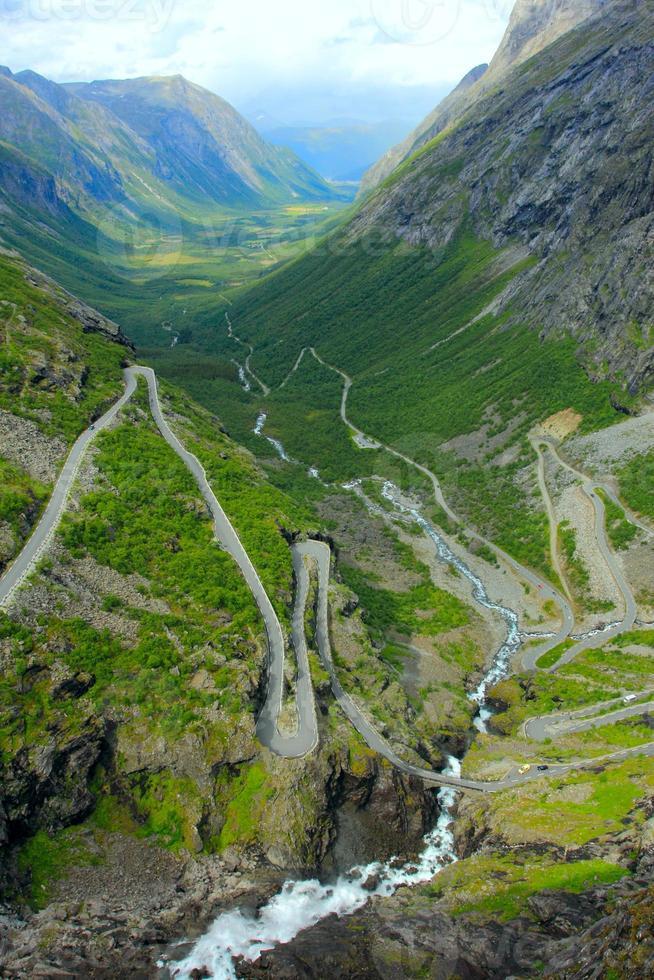 percorso del troll in Norvegia foto