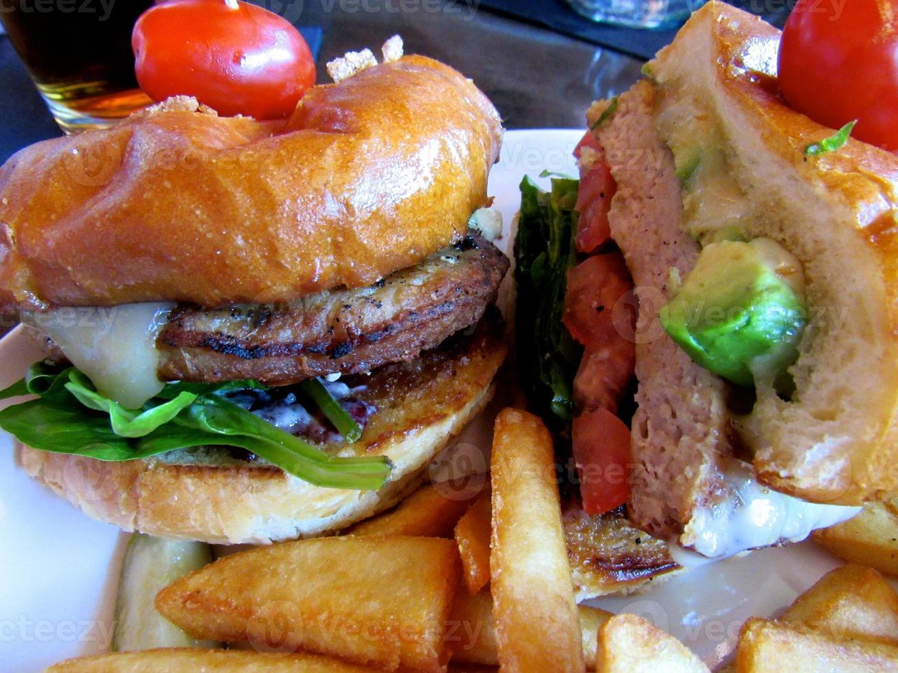 hamburger da vicino foto