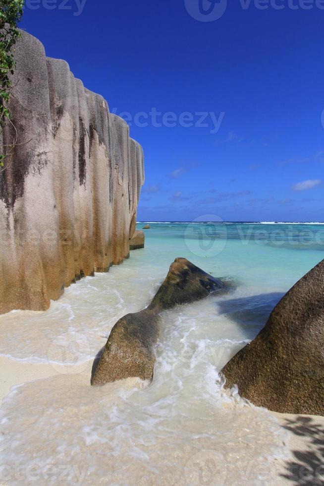 spiaggia, isola tropicale, seychelles foto