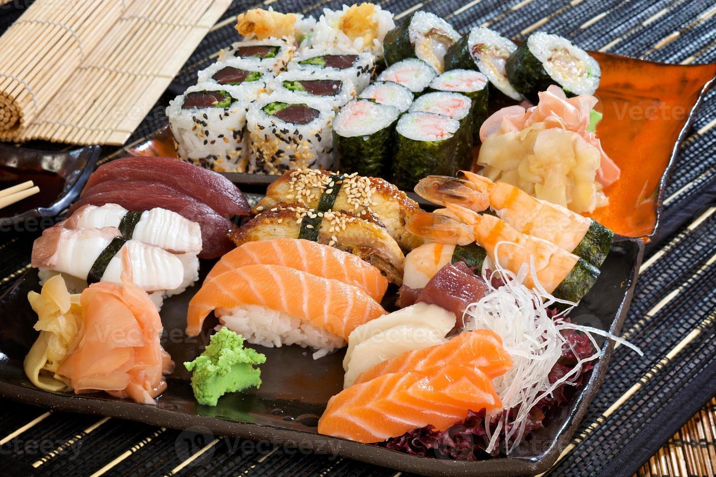grande set di sushi foto