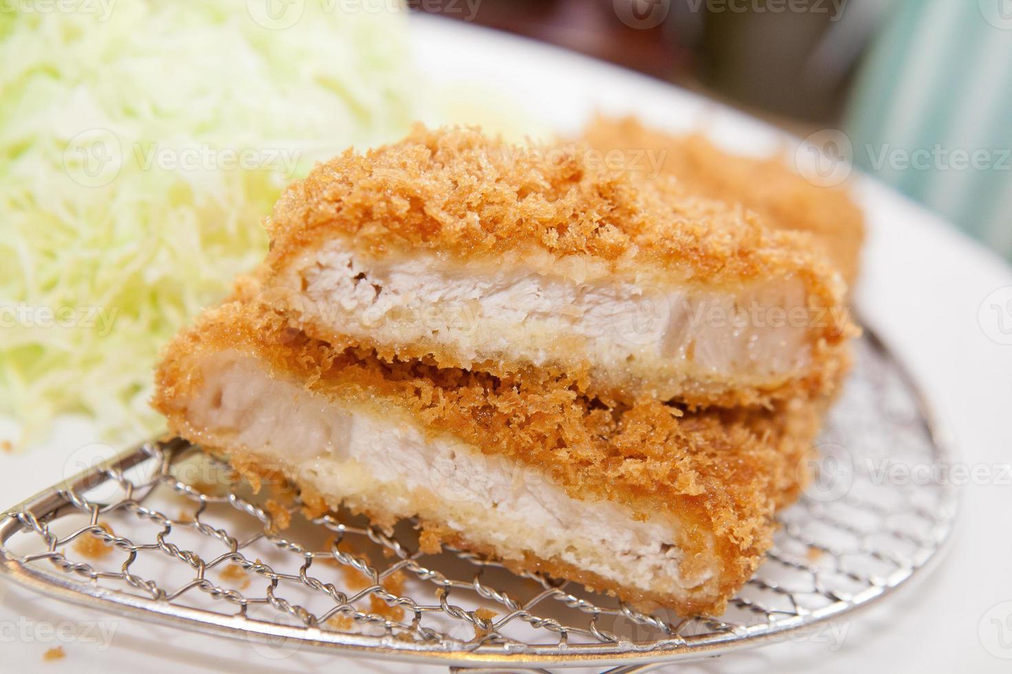 tonkatsu, maiale fritto con cibo giapponese foto