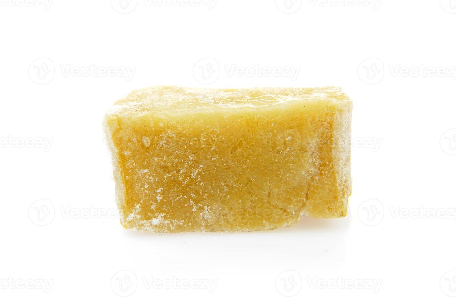 gelatina su uno sfondo bianco foto
