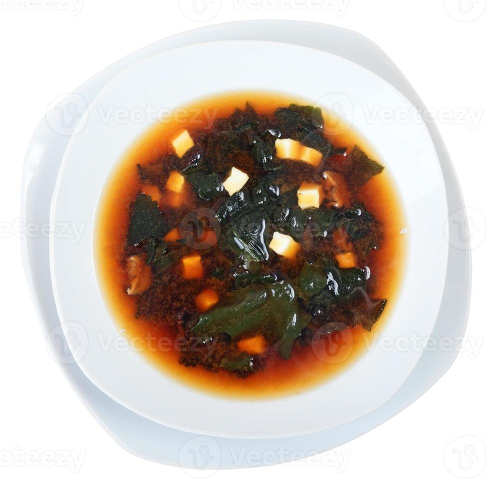 zuppa di miso vista dall'alto foto