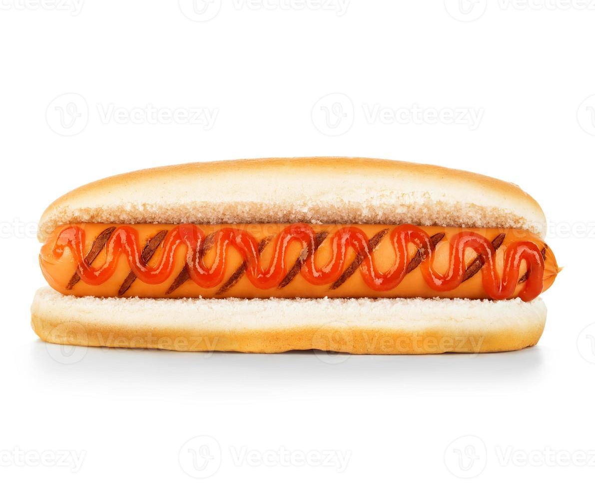hot dog isolato foto