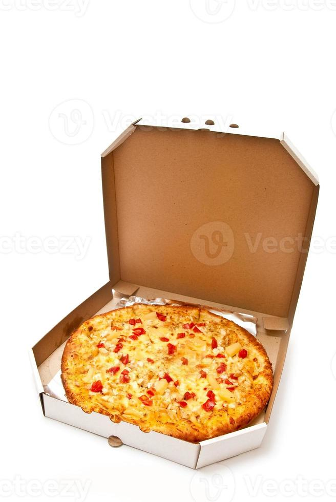 pizza in scatola foto