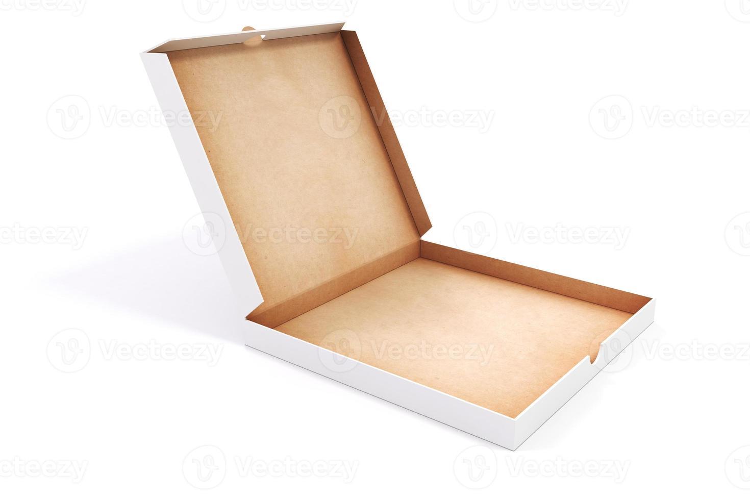 Contenitore di imballaggio in bianco 3d per pizza foto