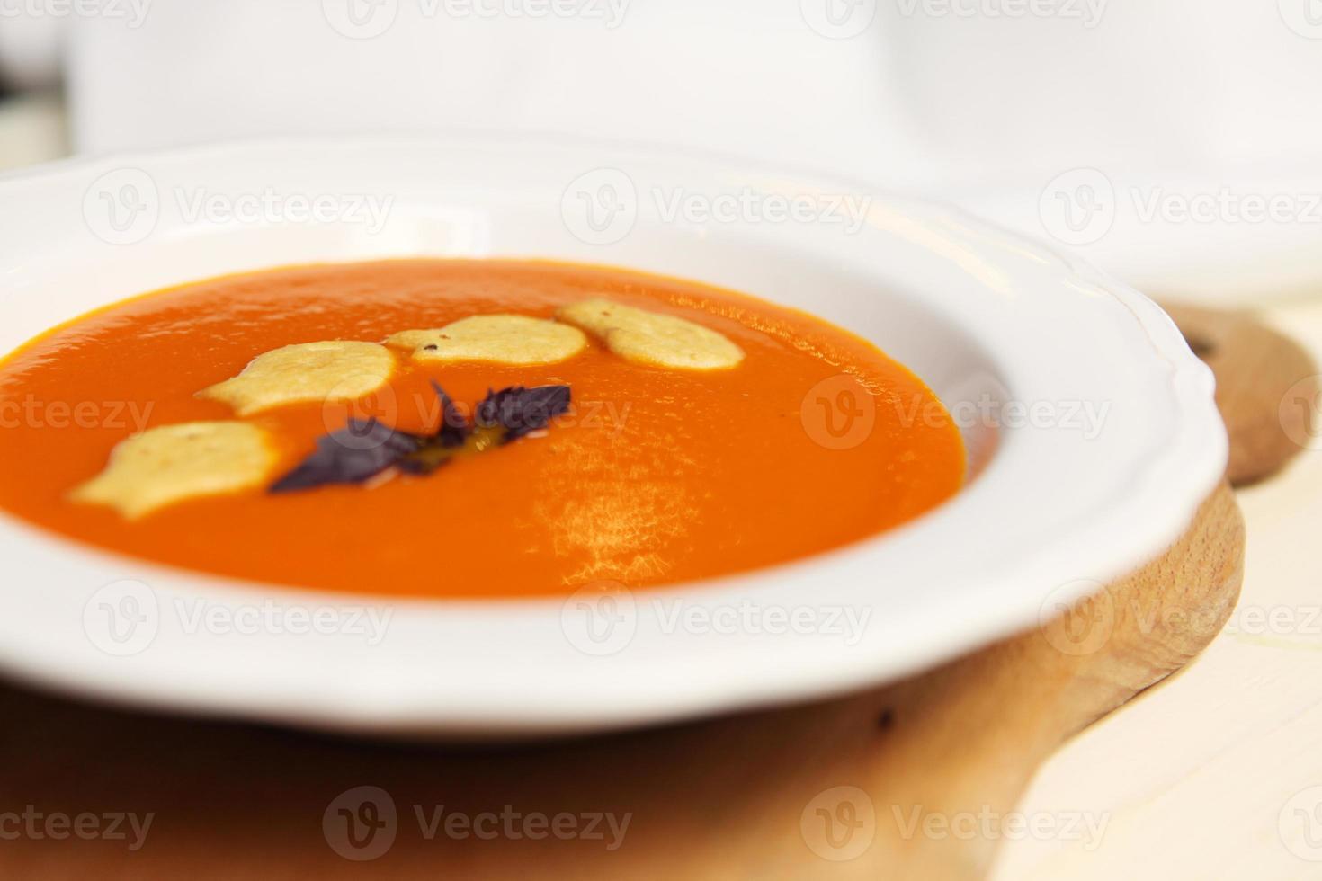 zuppa di crema di zucca sana foto