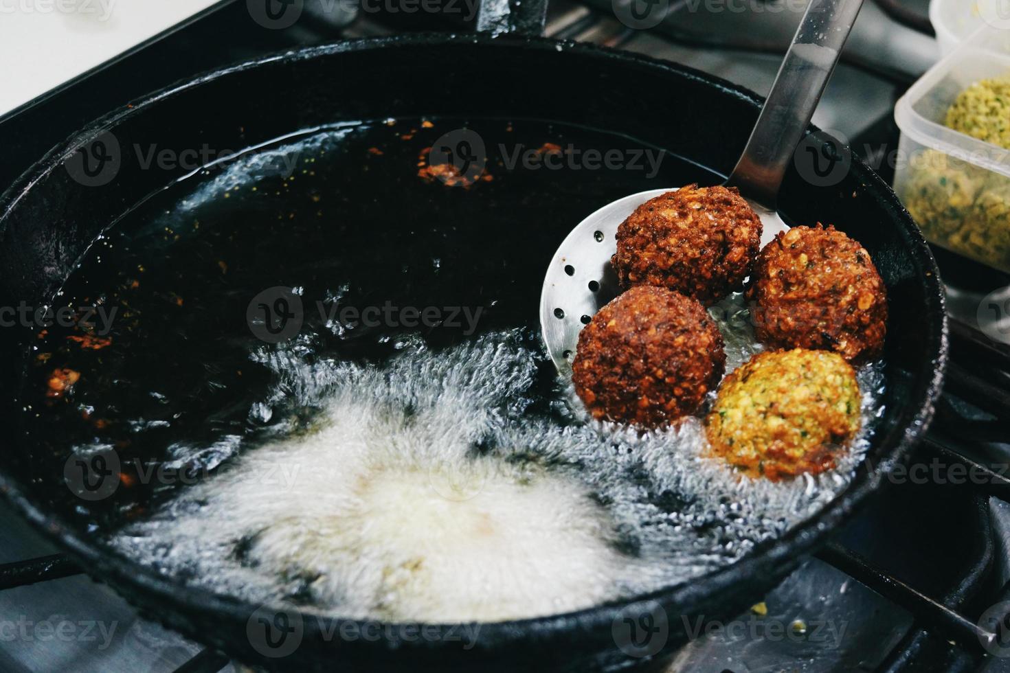 fare serie di falafel foto