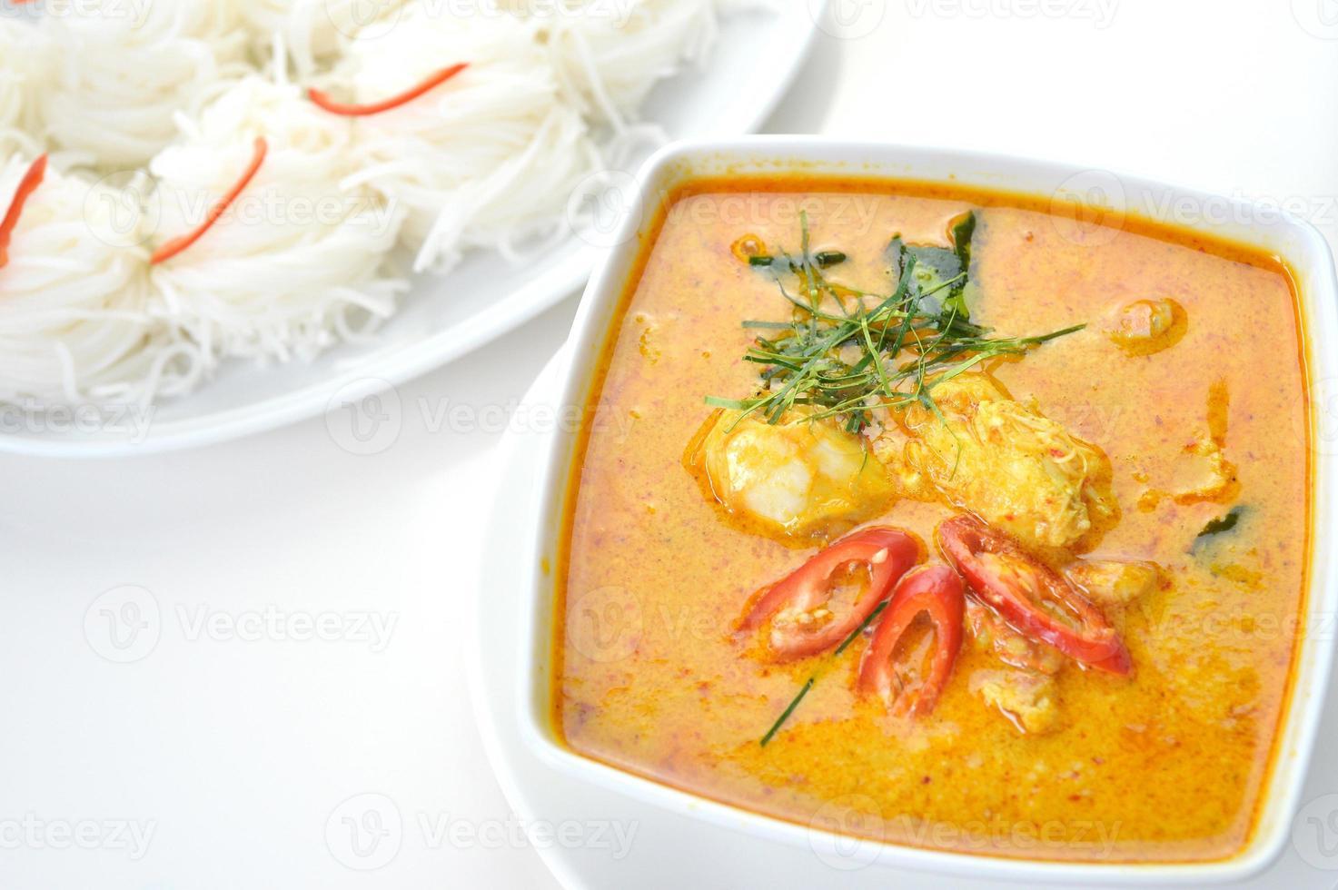 Curry di polpa di granchio foto